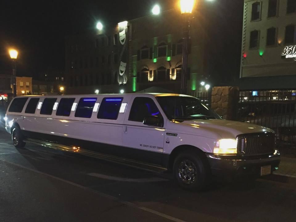 White SUV Limousine